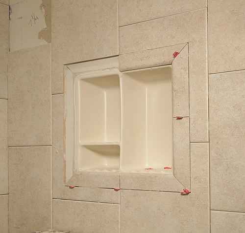 Genial Flush Shower Niche