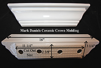 Bathroom Crown Molding instal