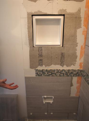 Ceramic Tile Recessed Niche