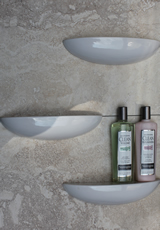 modern shower shelf design