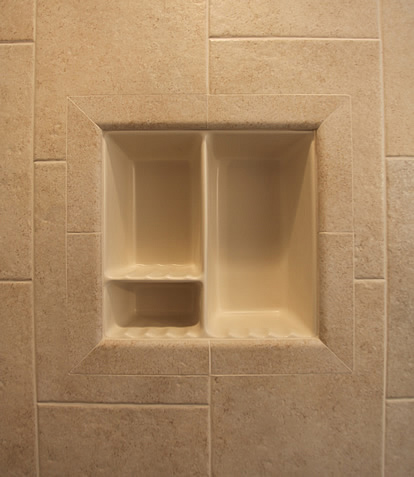 bathroom tile shower shelves shower shelf shampoo niche recessed showering shelves niches 16826