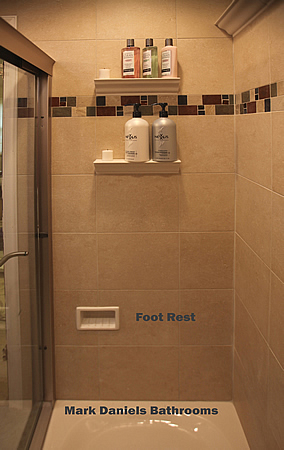Gentil Shower Stall Foot Hold