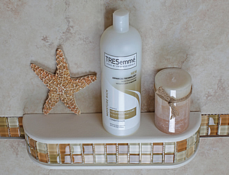 tile niche shower shelf mosaic inserts