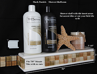 tiler friendly shower shel